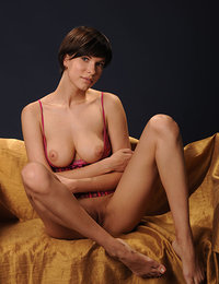 Suzanna A flaunts her big tits and curvy body in front of the camera.